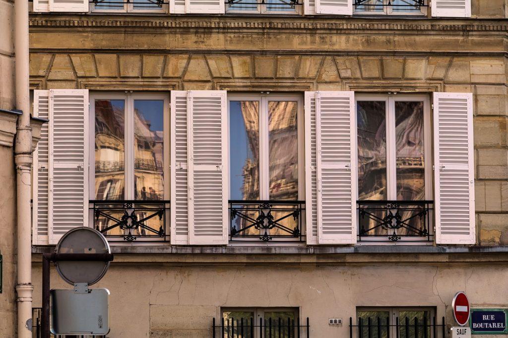 Immeuble devanture paris